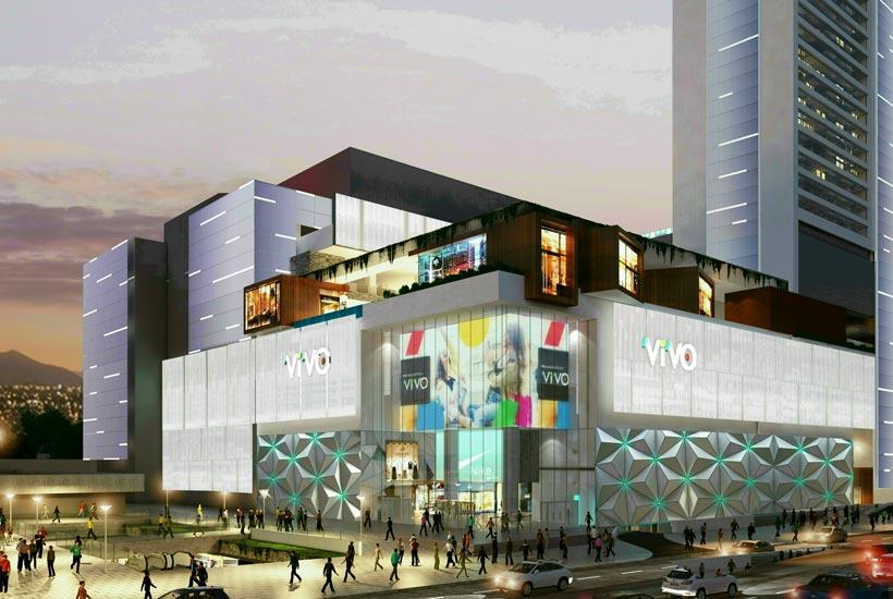 Render fachada mall